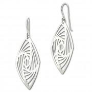 SilberDream Ohrringe Vierecke lang 925er Silber Damen Ohrhänger SDO8816J