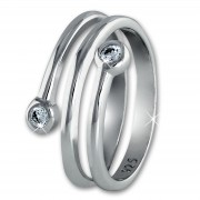 SilberDream Ring Dream Zirkonia weiß Gr.58 Sterling 925er Silber SDR406W58