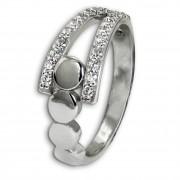 SilberDream Ring Kreise Zirkonia weiß Gr.56 aus 925er Silber SDR407W56
