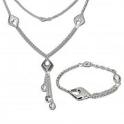 SilberDream Schmuck Set Drop Collier & Armband 925 Silber SDS413