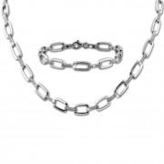 SilberDream Schmuck Set Zirkonia weiß Collier & Armband Damen 925 Silber SDS445W
