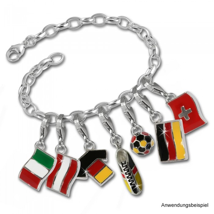 SilberDream 925 Charm Flagge Italien Armband Anhänger FC705