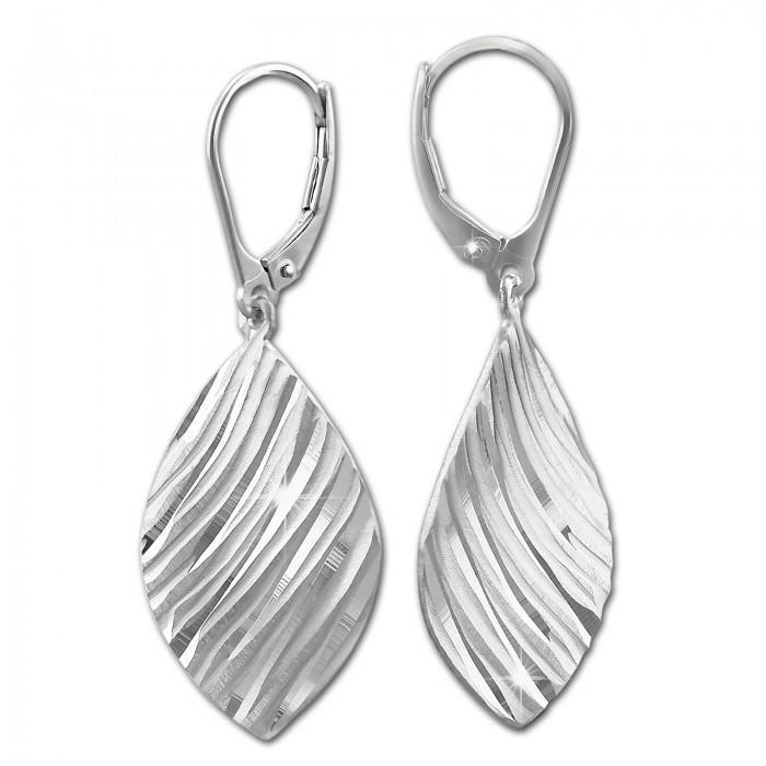 SilberDream Ohrring Ginkgo Blatt 925er Silber Ohrhänger SDO550
