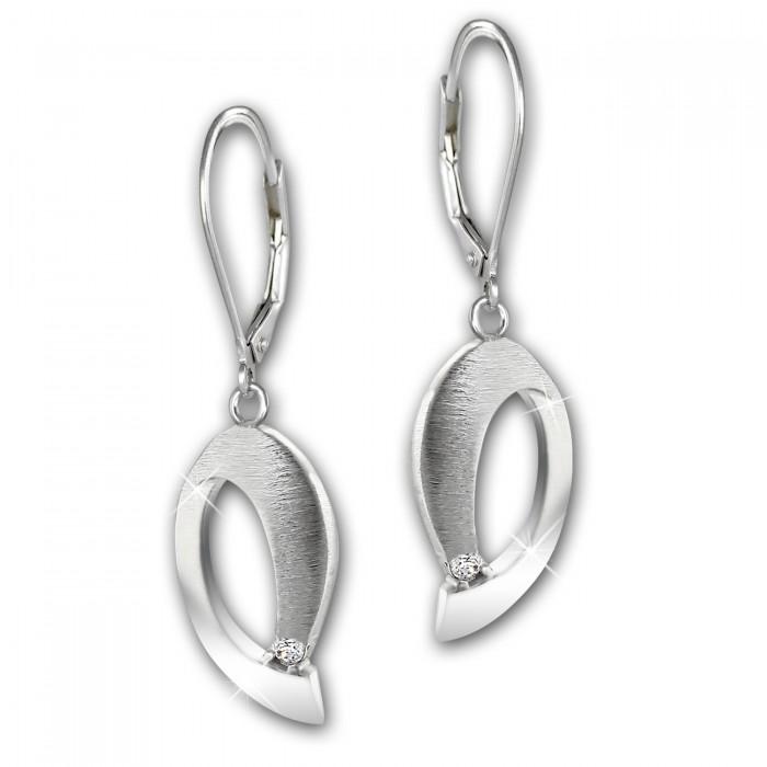 Ohrhänger Ginkgo Ohrring 925 Sterling Silber SDO519 von SILBERDREAM