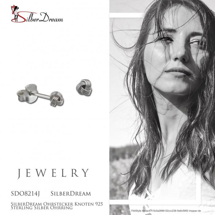 Ohrstecker Knoten 925 Sterling Silber Ohrring SDO8214J von SILBERDREAM