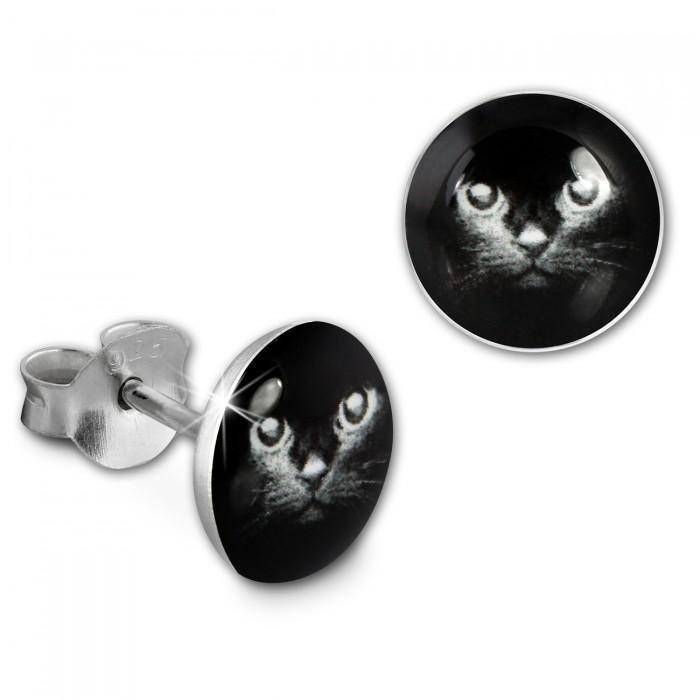Ohrstecker Logo Print Panda Kinder Damen Ohrring Silber SDO85137 von SILBERDREAM