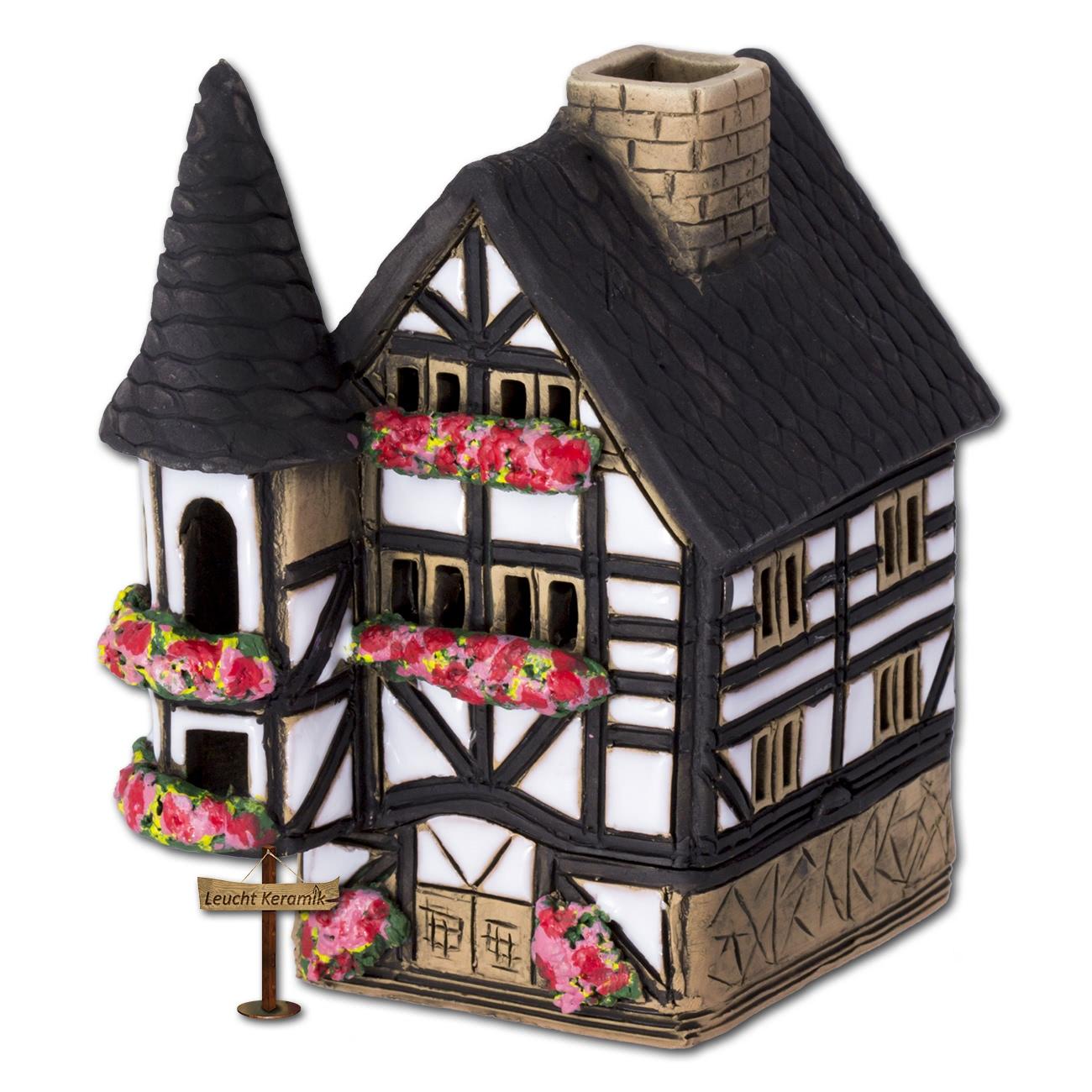 lichthaus fachwerkh uschen wei original leuchtkeramik dkh07w ebay. Black Bedroom Furniture Sets. Home Design Ideas