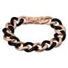 Amello Armband Keramik Panzer schwarz rosevergoldet Edelstahlschmuck ESAX20S0