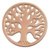 Amello Edelstahl Coin Lebensbaum rose für Coinsfassung Stahlschmuck ESC502E