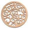 Amello Edelstahl Coin Ornament rosegold für Coinsfassung Stahlschmuck ESC505E