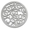 Amello Edelstahl Coin Ornament silber für Coinsfassung Edelstahlschmuck ESC505J