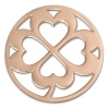 Amello Edelstahl Coin Kleeblatt rose für Coinsfassung Stahlschmuck ESC507E