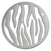 Amello Edelstahl Coin Muster silber für Coinsfassung Stahlschmuck ESC508J