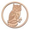 Amello Edelstahl Coin Eule 30mm rosegold für Coinsfassung Edelstahl ESC520E