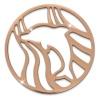 Amello Edelstahl Coin Delfin rosegold für Coinsfassung Stahlschmuck ESC521E