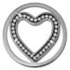 Amello Edelstahl Coin Herz 30mm Zirkonia weiß für Coinsfassung ESC525JW