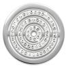 Amello Edelstahl Coin Kreise Zirkonia für Coinsfassung Edelstahl ESC534JW