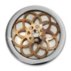 Amello Edelstahl Coin Blume rose 25mm für Coinsfassung Stahlschmuck ESC630E