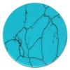 Amello Coin Acryl Türkis marmoriert für Coinsfassung Edelstahlschmuck ESC703T