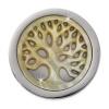 Amello Coin Lebensbaum beige für Coinsfassung 25mm Edelstahlschmuck ESC743W