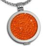 Amello Coin Ketten Set orange Edelstahl Kettenanhänger mit Kette 80cm ESCS01O