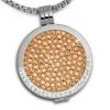 Amello Coins Ketten Set rose Edelstahl Kettenanhänger mit Kette 50cm ESCS02E