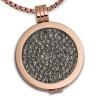 Amello Coins Ketten Set grau Edelstahl Kettenanhänger mit Kette 80cm ESCS04K