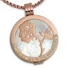 Amello Coins Kette Rose Edelstahl Kettenanhänger mit Kette 50cm ESCS52W