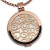 Amello Coins Ketten Set rose Edelstahl Kettenanhänger mit Kette 80cm ESCS61W
