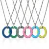Amello Halskette Oval Emaille Damen Edelstahlschmuck Farbwahl ESKG01X