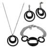 Amello Edelstahlschmuckset Keramik Kette, Armband, Ohrring ESSX05S