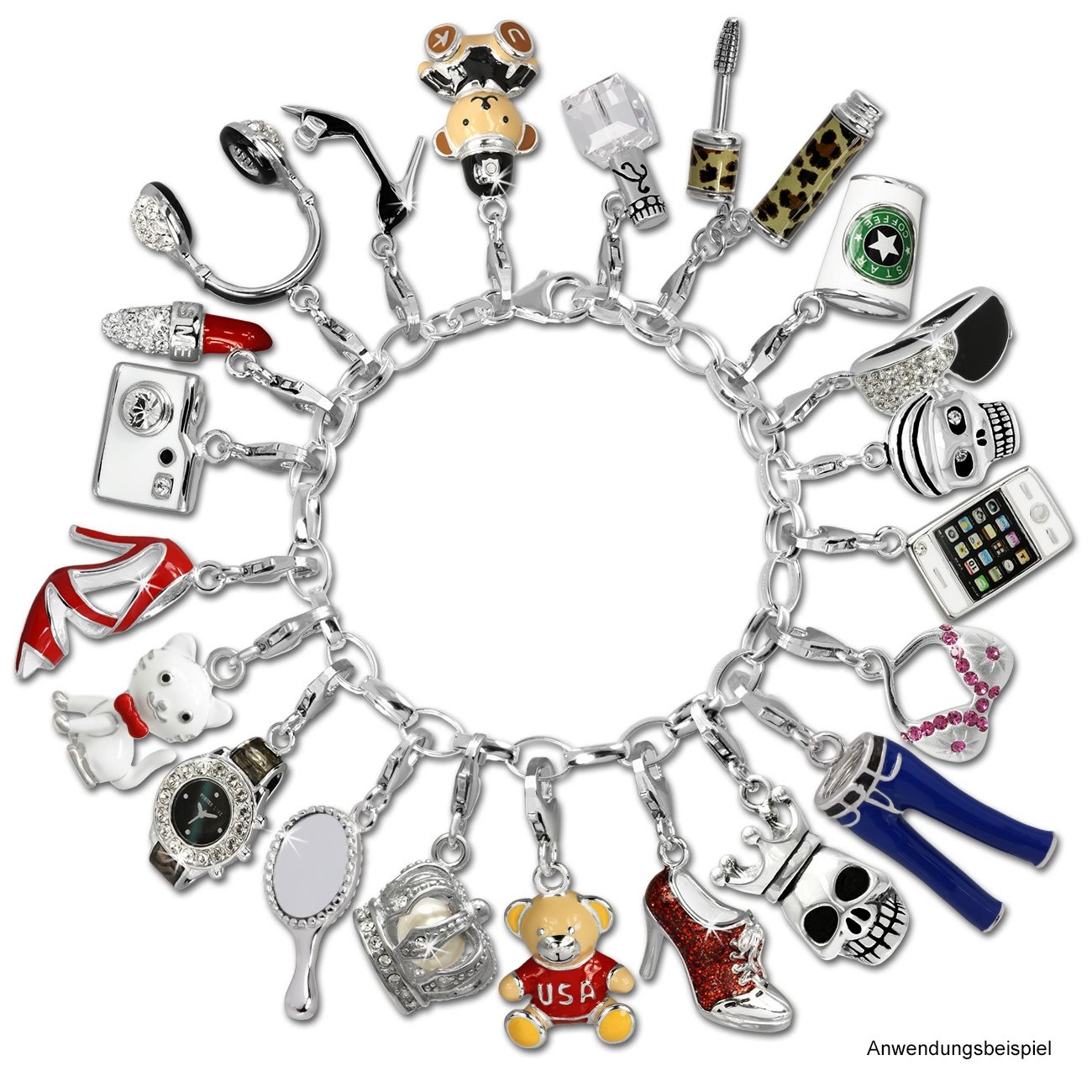 Armband anhänger  Silberschmuck von SilberDream - SilberDream Charm Schuh High Heel ...