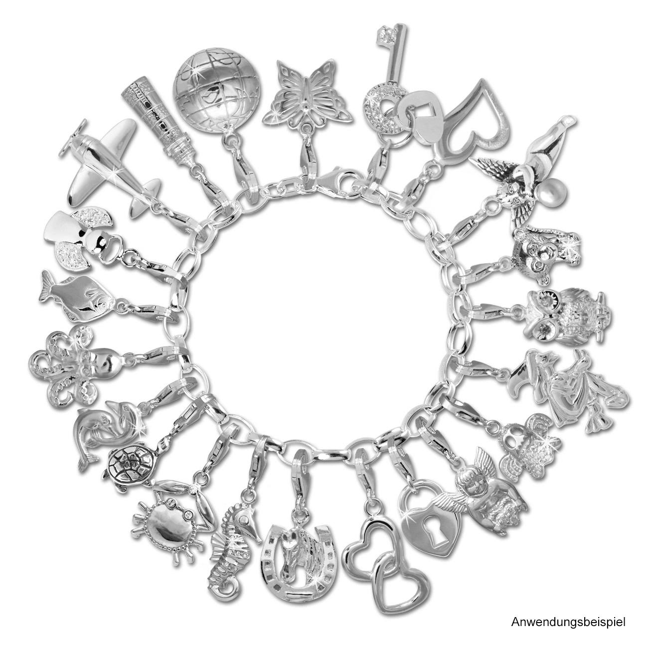Armband anhänger  Silberschmuck von SilberDream - SilberDream Charm Weltkugel 925er ...