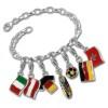 Charm Fußball Charms Anhänger für Armbänder - Silber Dream Charms - FCA021