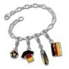 Armband Deutschland FAN Set Silber Charms Anhänger - Silber Dream Charms - FCA040