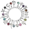 Charms Set in 925 Sterling Silber Armband mit Charms Anhänger - Silber Dream Charms - FCA087