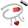 Armband Fashion Charm Set I Love You in 925 Sterling Silber Anhänger - Silber Dream Charms - FCA315