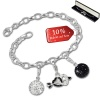 Armband Fashion Charm Set Black- White in 925 Sterling Silber Anhänger - Silber Dream Charms - FCA320