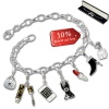 Armband Fashion Charm Set Lady in 925 Sterling Silber Anhänger - Silber Dream Charms - FCA321