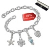 Armband Fashion Charm Set Meer in 925 Sterling Silber Anhänger - Silber Dream Charms - FCA326