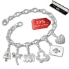Armband Fashion Charm Set Winterzauber in 925 Sterling Silber Anhänger - Silber Dream Charms - FCA327