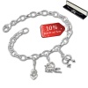 Armband Fashion Charm Set Amore in 925 Sterling Silber Anhänger - Silber Dream Charms - FCA328