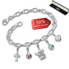 Armband Fashion Charm Set Versuchung in 925 Sterling Silber Anhänger - Silber Dream Charms - FCA331
