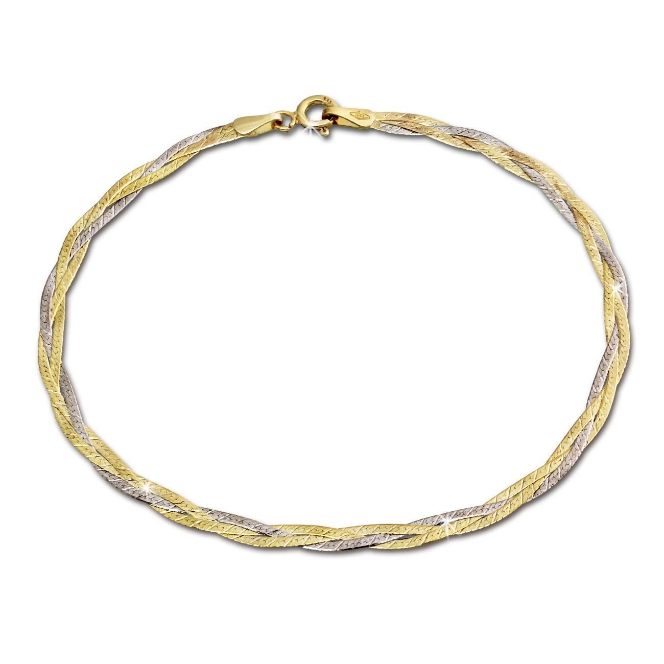 silberdream armband geflochten 333 gold damen 19cm 8 karat gda0009t ebay. Black Bedroom Furniture Sets. Home Design Ideas