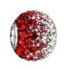 SilberDream Glitzer Bead Swarovski Elements rot ICE Silber GSB005