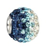 SilberDream Glitzer Bead Swarovski Elements türkis ICE 925 GSB006