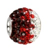 SilberDream Glitzer Bead Swarovski Elements Dark ICE Silber GSB007