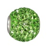 SilberDream Glitzer Bead Swarovski Elements grün Shiny GSB208