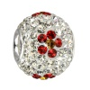 SilberDream Glitzer Bead Swarovski Elements weiß Flower 925 GSB301