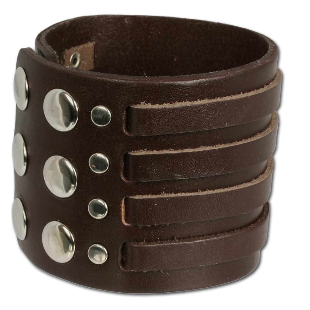 silberdream lederarmband braun herren leder armband la0031b ebay. Black Bedroom Furniture Sets. Home Design Ideas